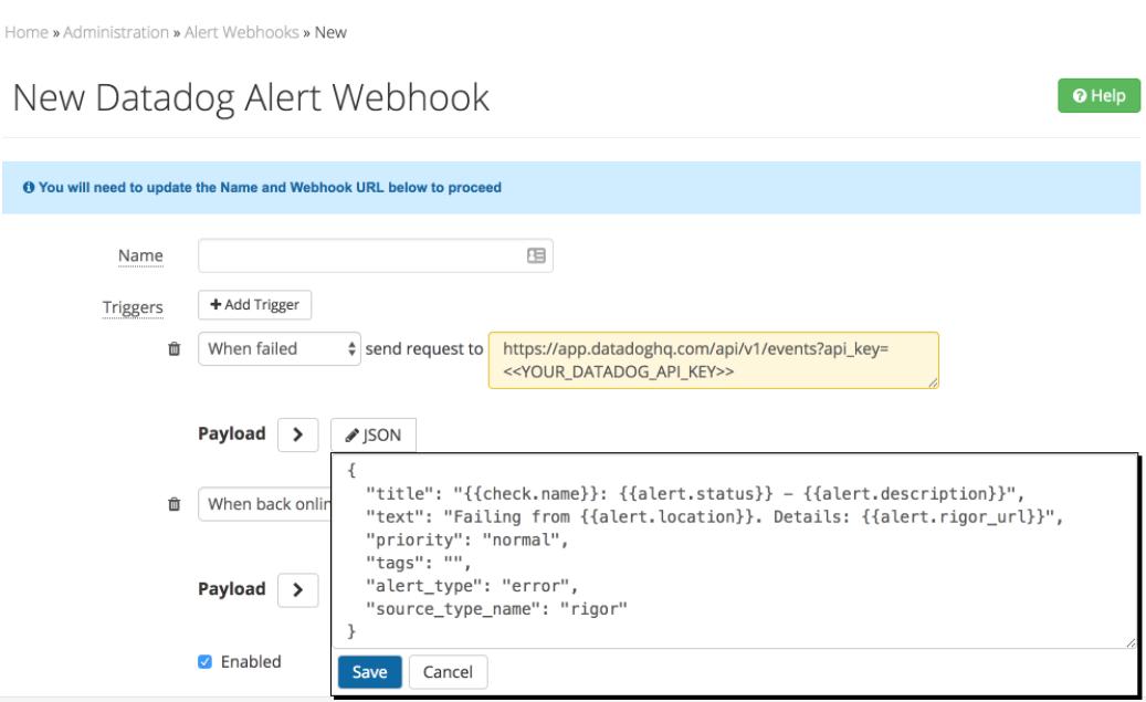 How Do I Configure Alert Webhooks? – Rigor