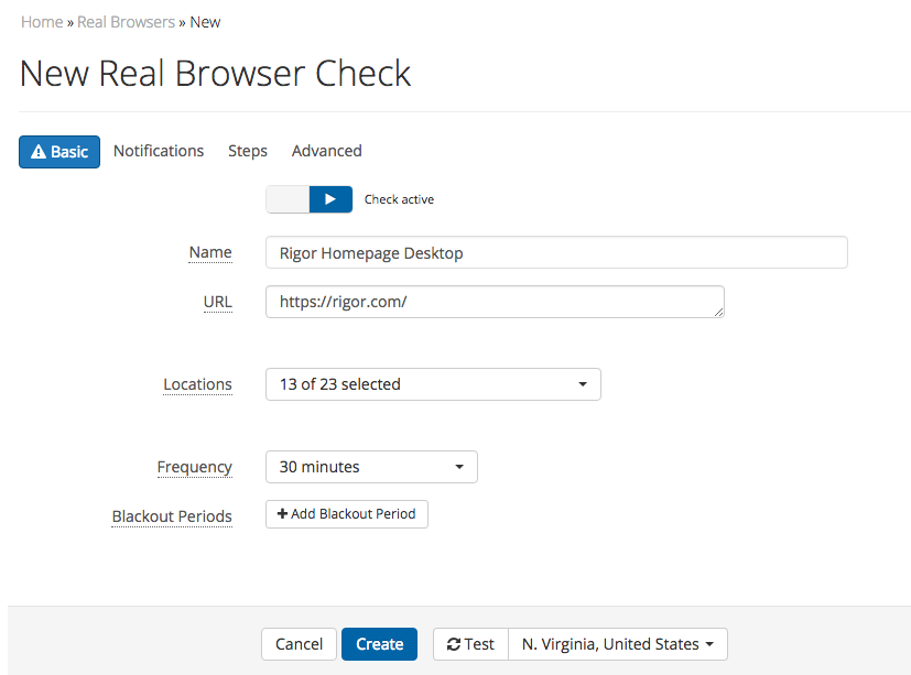 How Do I Create a Real Browser Check? – Rigor
